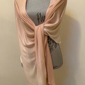 Soia & Kyo Peach Ombré Fine Knit Wrap Shawl